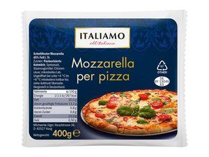 Mozzarella für Pizza