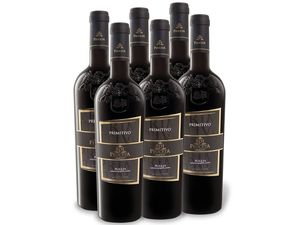 6 x 0,75-l-Flasche Weinpaket PEUCETA Primitivo Puglia IGP, Rotwein