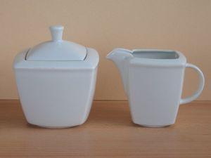 Böckling Milch-Zucker-Set 2-tlg. Victoria weiss, Porzellan