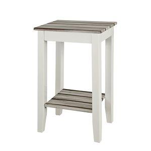 Konsole Gironde - Hochglanz Weiß/Kiefer-Dekor, Home Design
