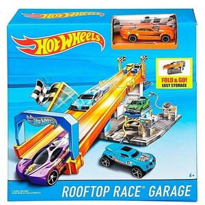 Hot Wheels Rennbahn mit Renn-Garage