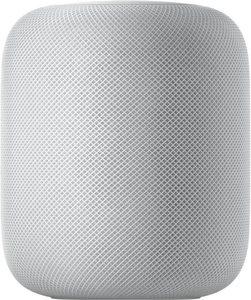 Apple HomePod Sprachgesteuerter Lautsprecher (WLAN (WiFi), Sprachsteuerung, Multiroom, Freisprechfunktion, Beleuchtungseffekte)