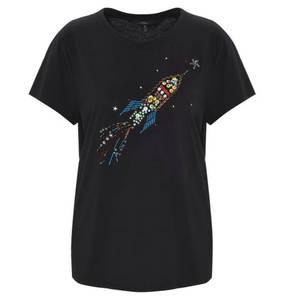mavi             T-Shirt, Rundhalsausschnitt, Schmucksteine