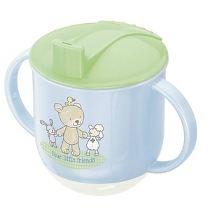 Rotho Babydesign - Trinklernbecher Beste Freunde perlblau, 150 ml