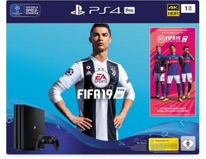 Sony PS4 Pro Konsole (1TB) inkl. Fifa 19 + 14 Tage PS Plus