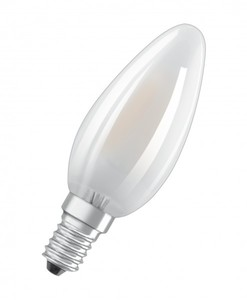 Osram LED Base Classic E14 5 er-Pack B 40, Vollglas, Kerzenform, matt ,  B 40, Vollglas, Kerzenform, matt