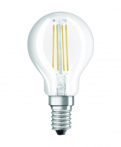 Osram LED Base Classic E14 5 er-Pack P 40 , Filament, klar ,  P 40 , Filament, klar