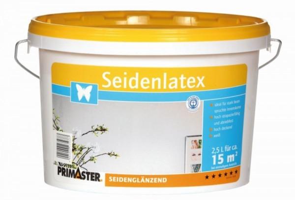 Primaster Seidenlatex ,  5 l, weiss