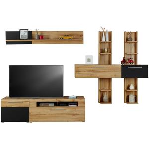 h lsta wohnwand gentis in grau kernussbaum von hardeck ansehen. Black Bedroom Furniture Sets. Home Design Ideas