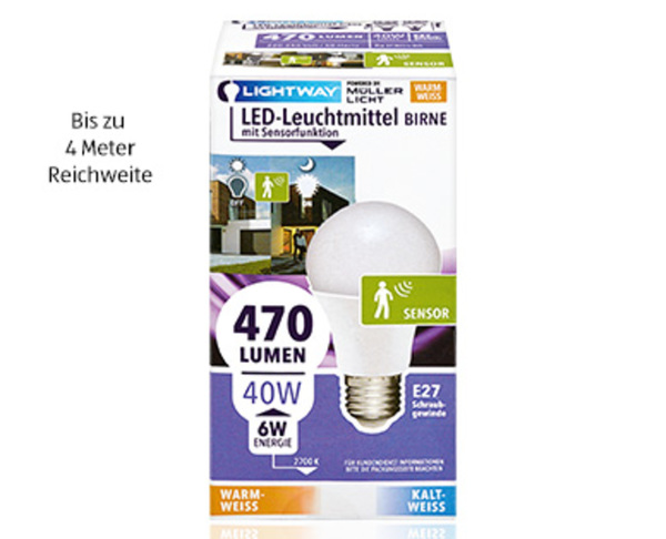 Lightway Led Leuchtmittel Mit Sensorfunktion Von Aldi Süd Ansehen