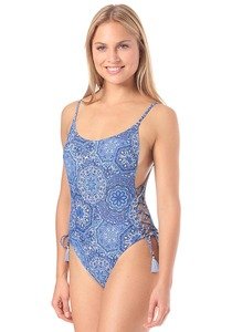 Rusty High Cut Belize - Badeanzug für Damen - Blau