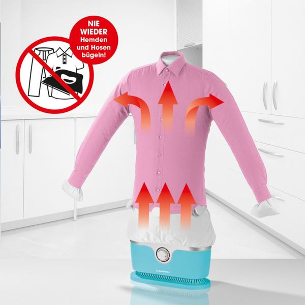 CLEANmaxx Bügler für Hemden & Hosen hellblau