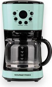 GOURMETmaxx Kaffeemaschine Retro 900W mit Timer, mint