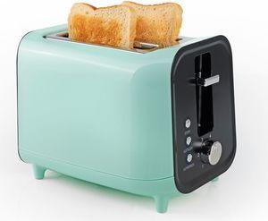 GOURMETmaxx Toaster Retro 800W inkl. Brötchenaufsatz, mint