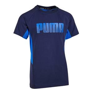 T-Shirt Gym Kinder blau