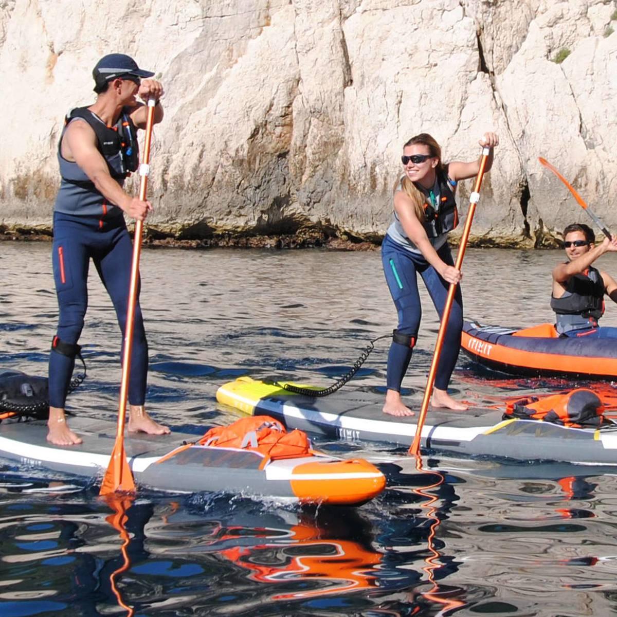 Bild 2 von Ärmelloser Noeprenanz Kajak und Stand Up Paddle 500 Neopren 2mm Herren grau/blau