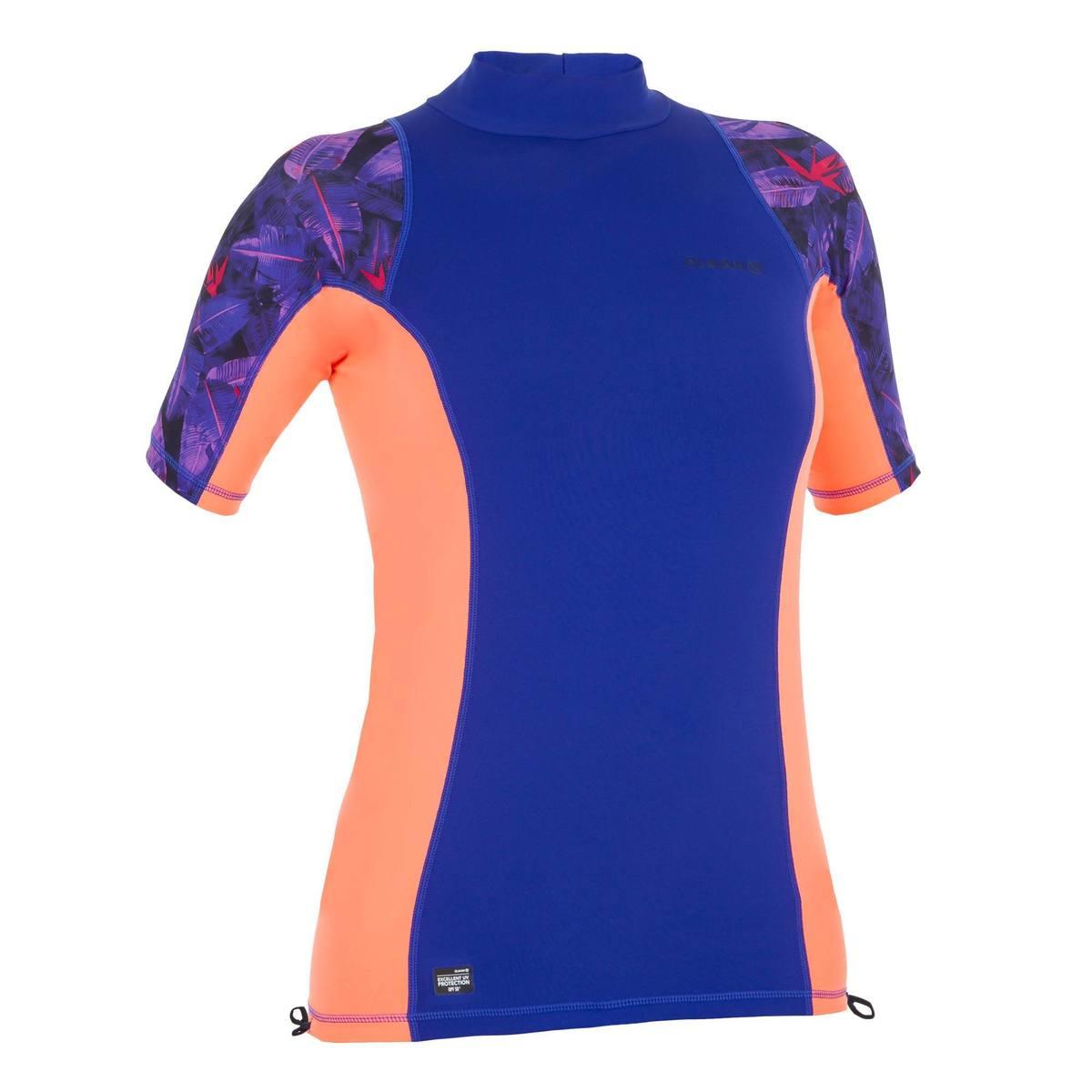 Bild 1 von UV-Shirt Surfen Top 500 kurzarm Damen violett/rosa bedruckt
