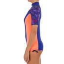 Bild 2 von UV-Shirt Surfen Top 500 kurzarm Damen violett/rosa bedruckt