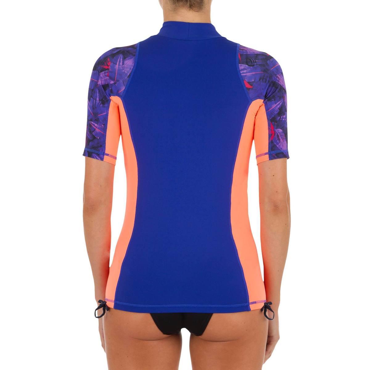 Bild 3 von UV-Shirt Surfen Top 500 kurzarm Damen violett/rosa bedruckt