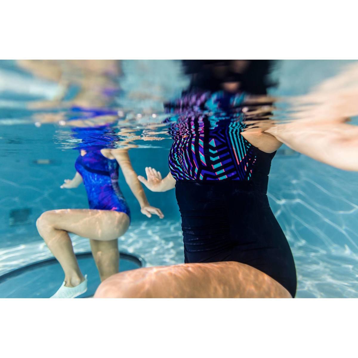 Bild 3 von Badeanzug Aquagym figurformend Mary Fici Damen blau