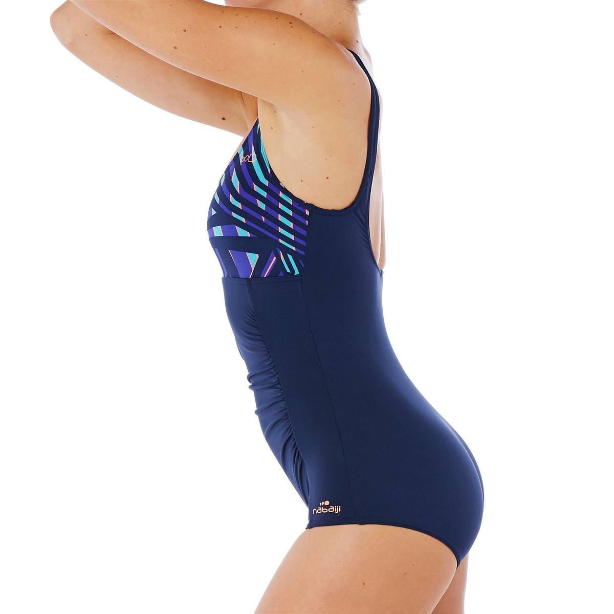 Bild 5 von Badeanzug Aquagym figurformend Mary Fici Damen blau
