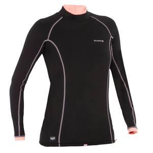 Thermo-Shirt langarm UV-Schutz Top 900 Damen schwarz