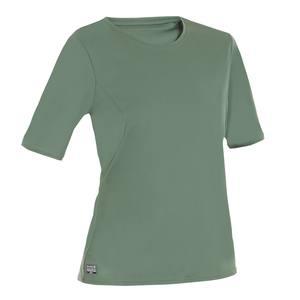 11eb0993a1cf66 UV-Shirt kurzarm Surfen Damen grau grün
