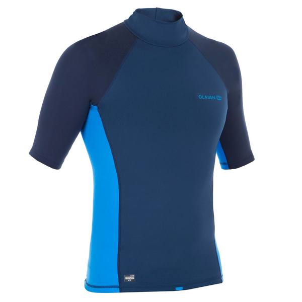 Thermo-Shirt kurzarm UV-Schutz 900 Fleece Herren blau