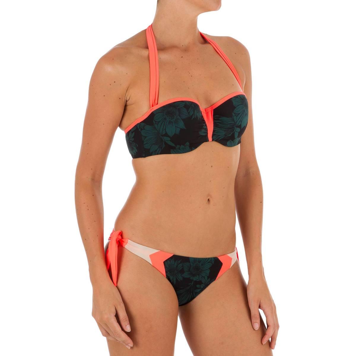 Bild 5 von Bikini-Hose Sabi Terra seitlich gebunden hoher Beinausschnitt Surfen Damen