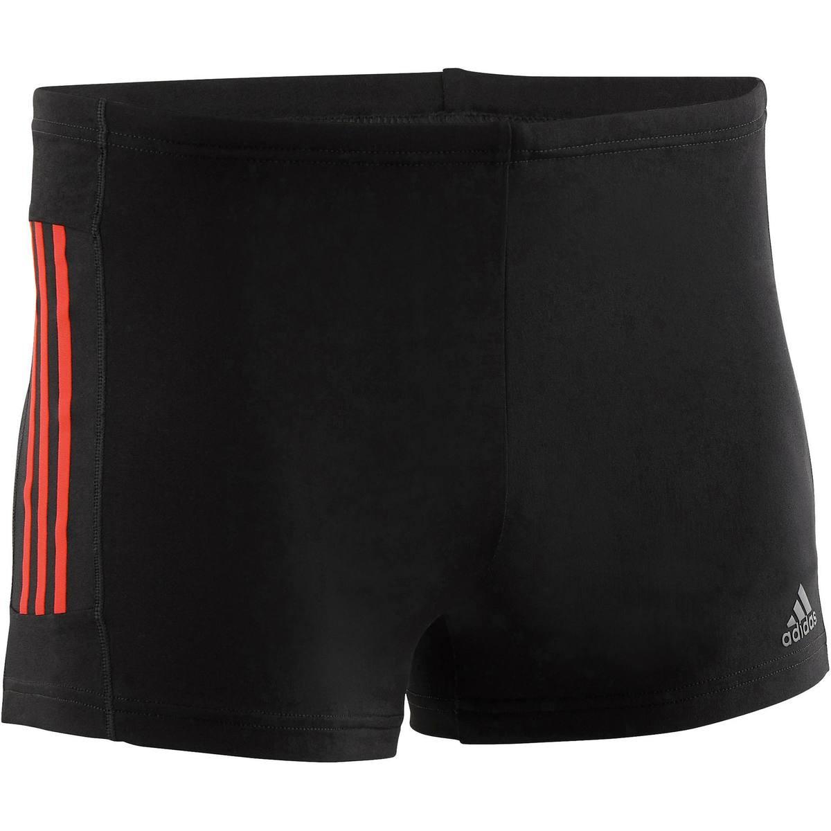 Bild 1 von Badehose Boxer 3 Streifen Herren schwarz/rot
