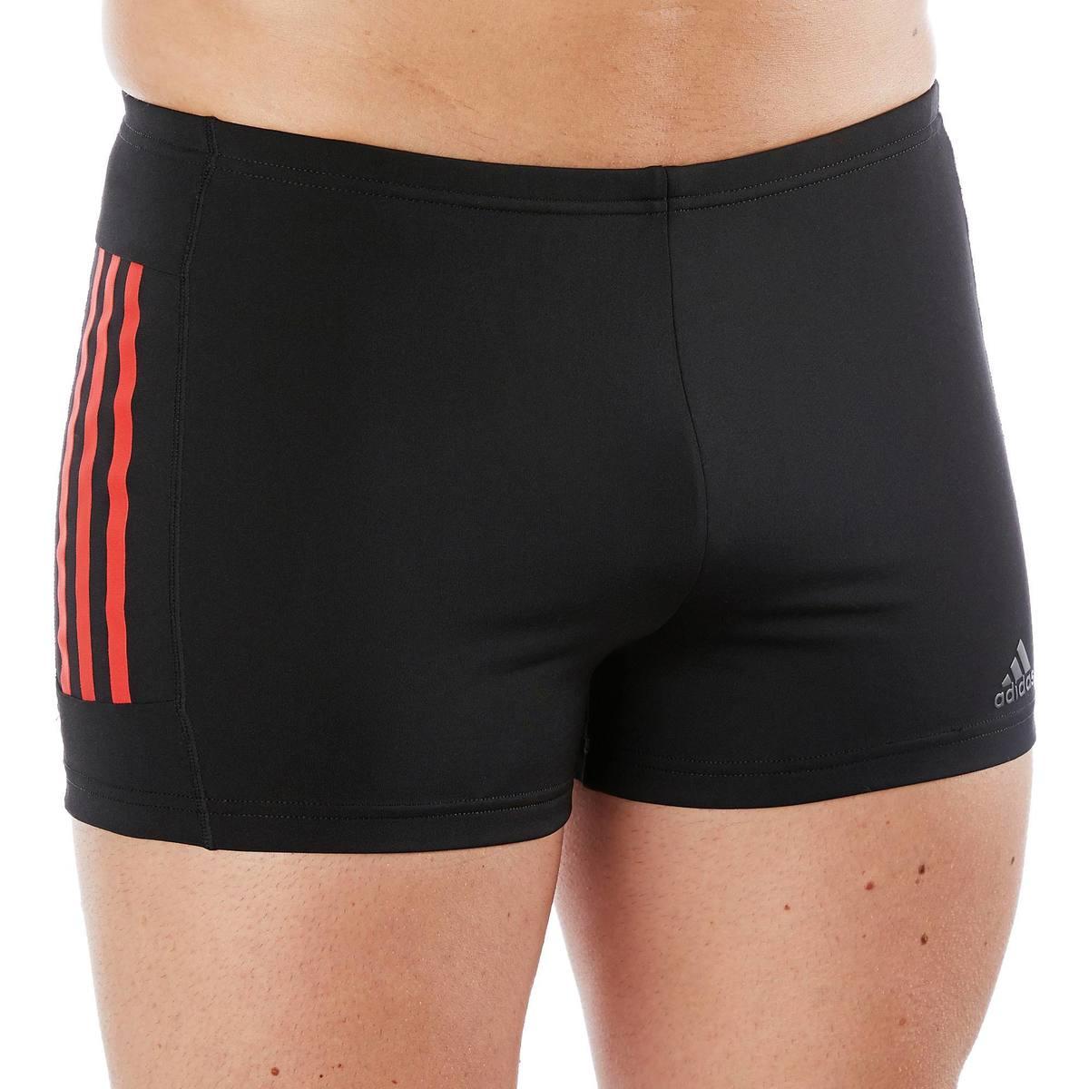 Bild 2 von Badehose Boxer 3 Streifen Herren schwarz/rot