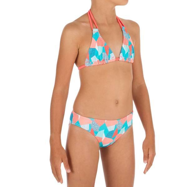 47a249689476 Bikini-Set Triangel Taloo Cali Mädchen blau von Decathlon für 3,99 ...