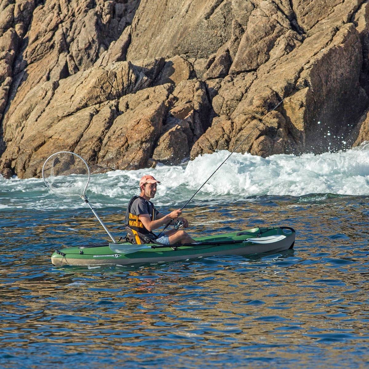 Bild 2 von Kajak Hartschale Angeln Bilbao Fishing 1-Sitzer grün