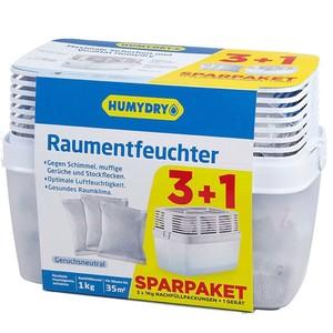 Humydry Raumentfeuchter Premium inkl. 3x1000g Nachfüllpackung