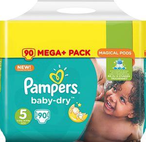 Pampers Baby-Dry Größe 5 Junior 11–25 kg, 90 Windeln