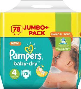 Pampers Baby-Dry Größe 4 8–16 kg Jumbo Plus Pack, 78 Windeln