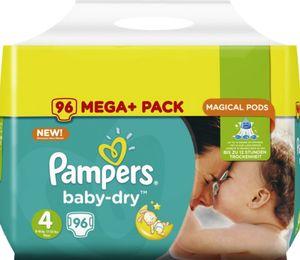 2-er Sparpack Pampers baby-dry Megapack Maxi 96er