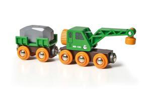 BRIO World Grüner Kranwagen - Anhänger und Fracht