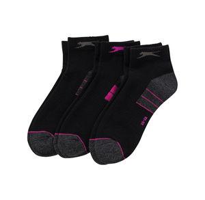 Slazenger Damen-Sportsocken mit pinken Kontrasten, 3er Pack