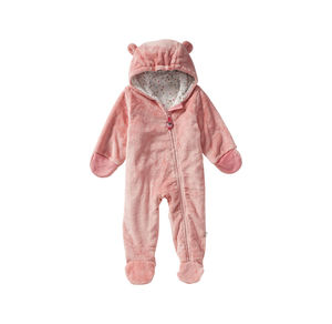 Liegelind Baby-Mädchen-Plüsch-Overall mit süßen Ohren