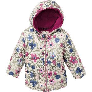 Esprit Baby Jacke mit Kapuze, Blumenmuster