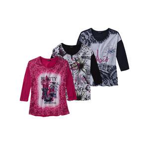 Laura Torelli Classic Damen-Shirt mit großem Frontaufdruck