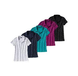 Laura Torelli Classic Damen-Poloshirt mit schickem Muster