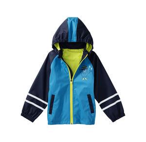 Kids Jungen-Regenjacke mit reflektierenden Streifen