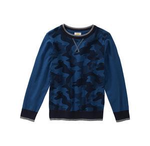 Kids Jungen-Pullover mit Camouflage-Muster