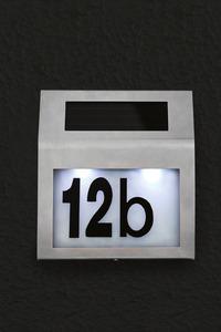 Solar-LED-Hausnummer