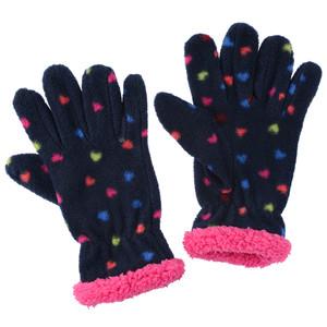 Mädchen Fingerhandschuhe mit Herz-Print