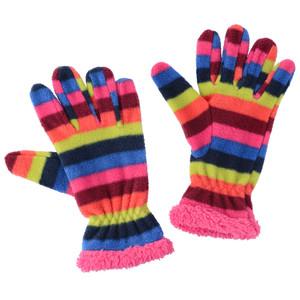Mädchen Fingerhandschuhe im Ringel-Look