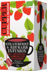 Cupper Früchte-Tee strawberry & rhubarb infusion, Erdbeere & Rhabarber, aromatisiert (20x2,5g)