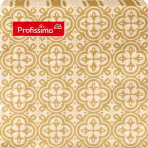 Profissimo Serviette Motiv Marokko gold/champagner